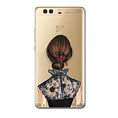 Varten kotelot kuoret Ultraohut Kuvio Takakuori Etui Seksikäs nainen Pehmeä TPU varten HuaweiHuawei P10 Plus Huawei P9 Huawei P9 Lite