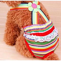 Perros Pantalones Ropa para Perro Verano Flor Adorable Moda Arco iris