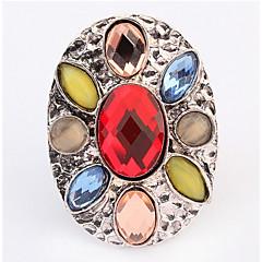 Ring Bandringen imitatie DiamondBasisontwerp Uniek ontwerp Logostijl Meetkundig Opvallende sieraden Afrika Eenvoudige Stijl USA Duurzaam