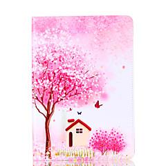 アップルipadのための4 3 2ケースのカバー花の木のパターンのカードステントpuの材料フラット保護シェル