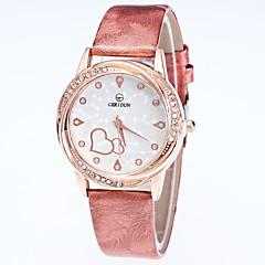 Dames Modieus horloge Polshorloge Kwarts Leer Band Vrijetijdsschoenen Zwart Wit Blauw Rood Goud Roze Paars roze