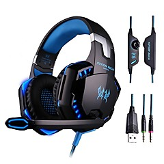 gaming headset dyb bas computerspil hovedtelefoner med mikrofon LED lys til computer pc gamer