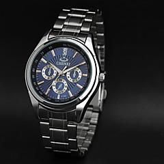 CHENXI® Men's Simple Design Fashion Dress Watch Japanese Quartz Water Resistant Silver Steel Strap Wrist Watch Unique Watch
