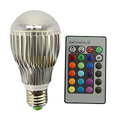1pcs 9W E27 LED Globe Bulbs RGB Dimmable Remote-Controlled Multiple Colour Led Rgb Lamp Decorative AC85-265V
