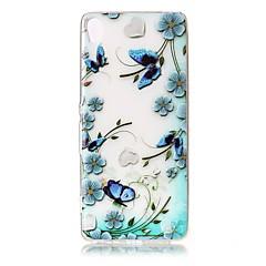 For Etuier Transparent Præget Mønster Bagcover Etui Blomst Sommerfugl Blødt TPU for SonySony Xperia XZ Premium Sony Xperia XA Sony Xperia
