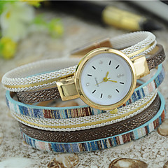 Women's Fashion Watch Bracelet Watch Quartz Colorful Leather Band Bohemian