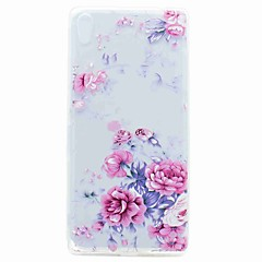 For Sony XA Ultra X Compact Case Cover Translucent Pattern Back Cover Case Flower Soft TPU for Sony Xperia C6 XA E5 X Perfor