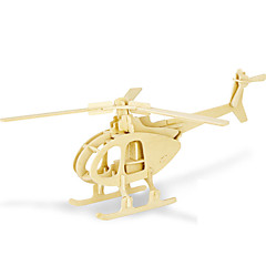 بانوراما الألغاز قطع تركيب3D اللبنات DIY اللعب هليكوبتر 1 خشب