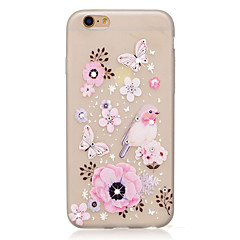 For Rhinsten Lyser i mørket Mønster Etui Bagcover Etui Blomst Sommerfugl Blødt TPU for AppleiPhone 7 Plus iPhone 7 iPhone 6s Plus iPhone