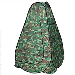 1 사람 텐트 더블 베이스 접이식 텐트 원 룸 캠핑 텐트 2000-3000 mm 유리 섬유 옥스포드 방수 휴대용-하이킹 캠핑-