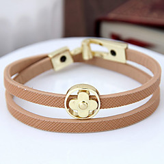 Women's Wrap Bracelet Fashion Leather Alloy Flower Jewelry For Party 1 pcs