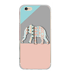 Til iPhone X iPhone 8 Etuier Ultratyndt Mønster Bagcover Etui Elefant Blødt TPU for Apple iPhone X iPhone 8 Plus iPhone 8 iPhone 7 Plus