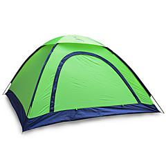 2 사람 텐트 싱글 접이식 텐트 원 룸 캠핑 텐트 1000-1500 mm 유리 섬유 옥스포드 방수 휴대용-하이킹 캠핑-