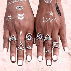 New 8 PCS/SET Vintage Ring Set Punk Bohemian Midi Rings for Women Tibetan Anillos Ring Knuckle Rings for Women Anel