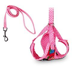 Imbracatura carina del cane dei dots della fragola con i prodotti dell'animale domestico di rosa rosso nero di guinzaglio 120cm