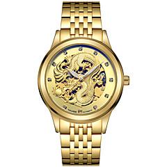 Tevise Férfi Páros Sportos óra Szkeleton óra Divatos óra mechanikus Watch Kvarc Automatikus önfelhúzós Naptár Vízálló Fénylő Világítás