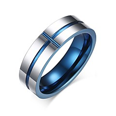 Ring Basis Modisch individualisiert Euramerican Simple Style Wolframstahl Kreisform Runde Form Geometrische Form Schmuck FürParty