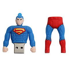 Ny tegneserie kreativ superman usb 2,0 128gb flashdrev u diskhukommelsestik