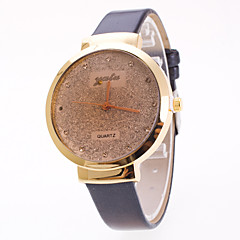 Dames Modieus horloge Chinees Kwarts Starry PU Band Bedeltjes Elegante horloges Zwart Wit Rood Bruin Paars