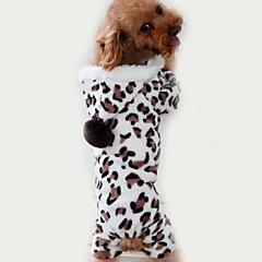 Kat Hund Jumpsuits Pyjamas Hundetøj Sødt Afslappet/Hverdag Leopard Brun