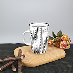 Minimalismi Juhla Juomalasit, 340 ml Yksinkertainen geometrinen kuvio Uudelleenkäytettävä Posliini Tee AlastonPäivittäis-juomalasit