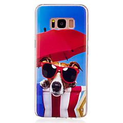 Til samsung galaxy s8 s7 kanten dækslet briller hund mønster hd malet tpu materiale imd proces telefon taske s7 s6 kant s6 s5