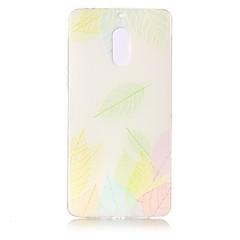 Voor Hoesje cover Transparant Reliëfopdruk Patroon Achterkantje hoesje Kanten ontwerp Zacht TPU voor Nokia Nokia 6