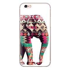Για κάλυψη περίπτωση εξαιρετικά λεπτό σχέδιο πίσω κάλυμμα περίπτωση ελέφαντας μαλακό tpu για iphone 7 plus 7 6s plus 6 plus se 5s 5