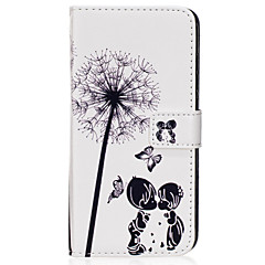 Til Samsung Galaxy S8 S8 Plus case cover par mælkebøtte mønster pu materiale kort sten twallet telefon sag s7 s6 s5 s7edge s6edge