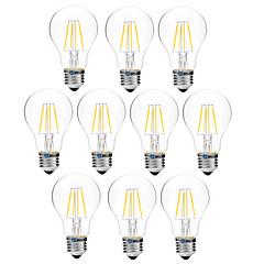 4W LED-glødetrådspærer A60(A19) 4 COB 300 lm Varm hvid Hvid Dæmpbar V 10 stk.
