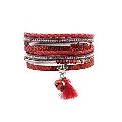 Dames Lederen armbanden Sieraden Bohemia Style Turks Modieus Vintage Leder Sieraden VoorBruiloft Feest Speciale gelegenheden Halloween