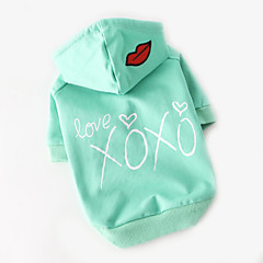 Dog Shirt / T-Shirt Dog Clothes Cute Casual/Daily Cartoon Blushing Pink Light Green