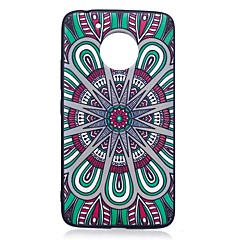 Voor motorola moto g5 plus case cover mandala patroon reliëf back cover soft tpu