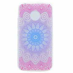 Voor Motorola G5 G5 Plus Case Cover Translucent Pattern Achterhoesje Mandala Soft TPU Case