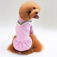 고양이 강아지 티셔츠 맨투맨 스웻티셔츠 강아지 의류 캐쥬얼/데일리 솔리드 블랙 핑크
