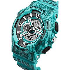 Heren Dames Sporthorloge Digitaal horloge Japans Kwarts Waterbestendig Plastic Band Zwart Blauw Rood Grijs