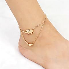 Kadın Ayak bileziği/Bilezikler alaşım Moda Fil Mücevher Için Günlük 1 adet