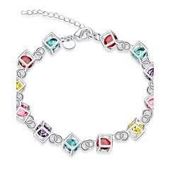 Dames Armbanden met ketting en sluiting Bedelarmbanden Opaal Kubieke ZirkoniaTatoeagestijl Natuur Vriendschap Turks Gothic Modieus