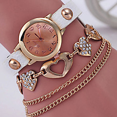 Dames Modieus horloge Armbandhorloge Gesimuleerd Diamant Horloge Kwarts Vrijetijdshorloge Legering Band Elegante horloges Zwart Wit Blauw
