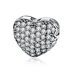 Γυναικεία Μενταγιόν Cubic Zirconia Heart Shape Geometric Shape Ασήμι Στερλίνας ΖιρκονίτηςΚυκλικό Μοναδικό Κρεμαστό Φιλία Βοημία Style