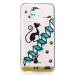 For Asus Zenfone 3 Max ZC520TL Case Cover Cartoon Cat Pattern Back Cover Soft TPU