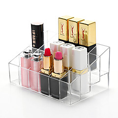 Acrylic Transparent Portable Quadrate Solid Cosmetics Makeup Storage Stand Makeup Brush Pot Cosmetic Organizer for Lipstick Eyeliner Nail Polish