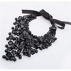 Női Rövid nyakláncok Nyilatkozat nyakláncok Selyem/pamut keverék Ötvözet Egyedi Barátság Hip-Hop Szikla Gótikus Film ékszer luxus ékszer