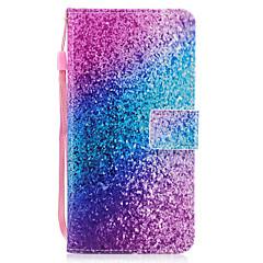 Dla jabłko iphone 7 7 plus 6s 6 plus se 5s 5 pokrowiec obudowy piasek tęczy wzór malowane pu skóry materiału stent portfela telefonu