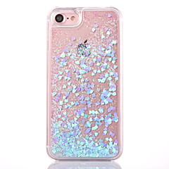 Back case voor iphone 7 7 plus vloeiende vloeibare transparante glitter glans hard pc cover voor iphone 6 6s plus se 5s 5
