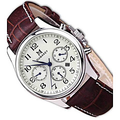 Муж. Модные часы Кварцевый С автоподзаводом Календарь Защита от влаги Кожа Группа Черный Коричневый