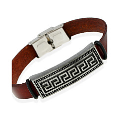 Heren Lederen armbanden Sieraden Natuur Modieus Leder Legering Sieraden Voor Speciale gelegenheden