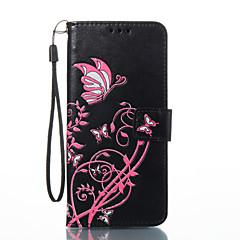 Samsung Galaxy s8 s8 plusz burkolata pillangó virág mintás PU anyagból kártya stent pénztárca telefon esetében s7 szélén s7 s6 szélén s6