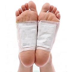 1 box body toxin rensning sund slankning detox fødder fod patches puder kit (10 pletter og 10 klæbemidler)
