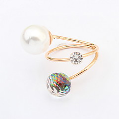 Ring Jewelry Euramerican Fashion Pearl Rhinestone Alloy Jewelry Jewelry For Wedding Party Special Occasion 1 pcs